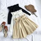 Paperbag A-line Skirt