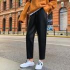 Faux Leather Straight-leg Pants