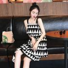 Geometric Printed Sleeveless Dress