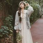 Open Front Cardigan Gray - One Size