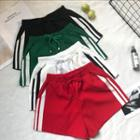 Striped Trim Sweat Shorts