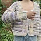 Melange Striped Cardigan
