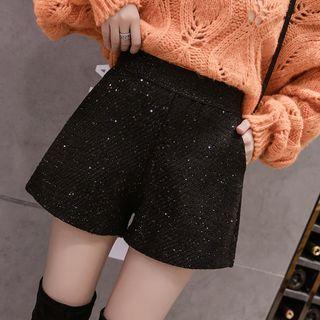 Glitter Wide-leg Shorts