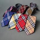 Striped / Plaid Slim Neck Tie