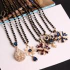 Flower / Owl Long Necklace