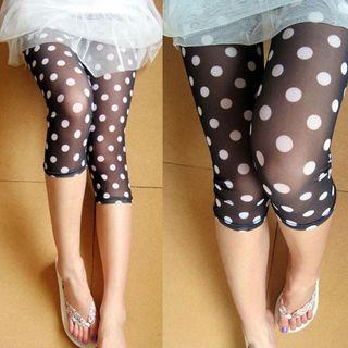 Polka Dot Capri Leggings