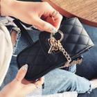Faux Leather Quilted Mini Crossbody Bag