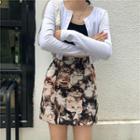 Cat Pattern Print Skirt