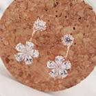 Rhinestone Floral Drop Earrings