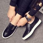 Sequined Genuine Leather Oxfords