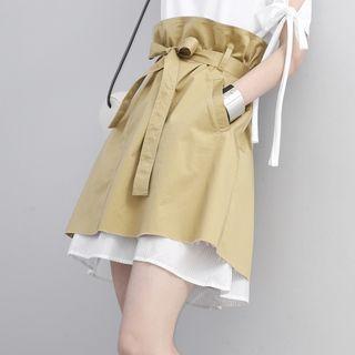 Layered Tulip A-line Skirt
