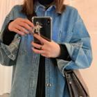 Oversized Denim Shirt Blue - One Size