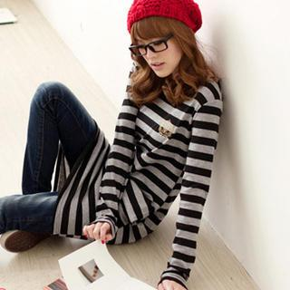 Long-sleeve Striped Dress