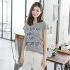 Camouflage Lettered Graphic Tee