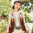 Fringed Embroidered Vest