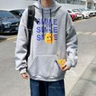 Smiley Face Printed Hooded Pullover