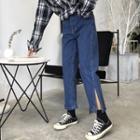 Plain Straight-leg Jeans