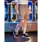 Drawcord Patchwork Shorts