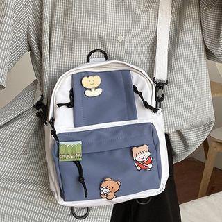 Pined Paneled Crossbody Bag