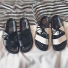 Shoelace Slide Slippers