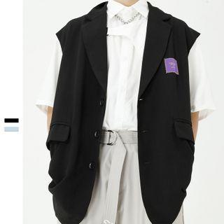 Applique Single Breasted Vest
