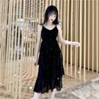 V-neck A-line Sling Dress