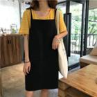 Double-strap Pinafore Dress