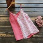 Floral Print Linen Camisole Top