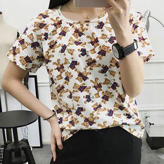 Bear Print Short Sleeve T-shirt