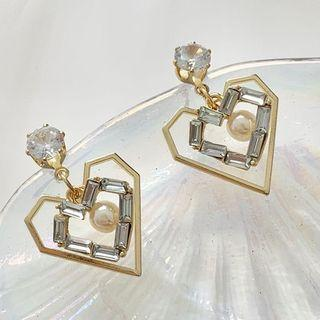 Geometric Sweetheart Earrings Studded Earring - One Size
