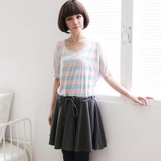 Mock Two-piece Striped Dress