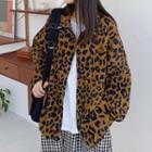 Leopard Print Shirt Jacket