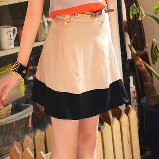 Color-block A-line Skirt