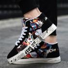 Printed High Top Lace-up Shoes