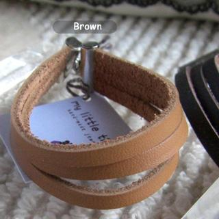 Modern Brown Leather Bracelet