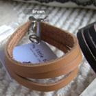Modern Brown Leather Bracelet