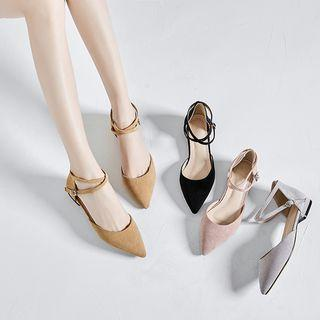 Cross Strap Pointed Toe Sandals
