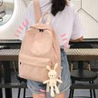 Lightweight Backpack With Rabbit Charm