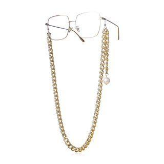 Faux Pearl Alloy Chunky Eyeglasses Chain