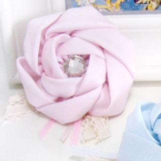 Multifunctional Camellia Hairpin + Brooch -pink One Size
