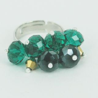 Fancy Crystal Balls Ring One Size