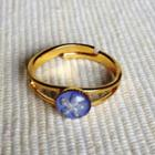 Resin Little Snowflake Ring (blue Purple) One Size