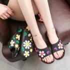 Flower Flat Slide Sandals