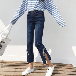 Bow Slit Jeans