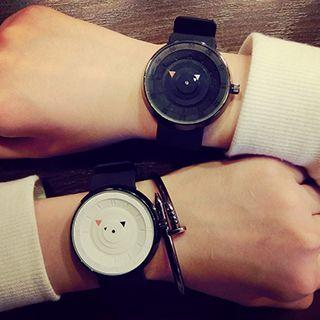 Couple Matching Silicone Strap Watch