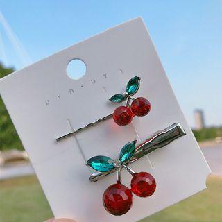 Cherry Hair Clip Set