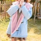 Fleece-lined Hooded Toggle Jacket