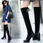 High Heel Lace Up Over-the-knee Boots