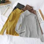 Striped Asymmetric Knit Top