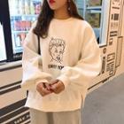 Printed Sweatshirt / Harem Jogger Pants